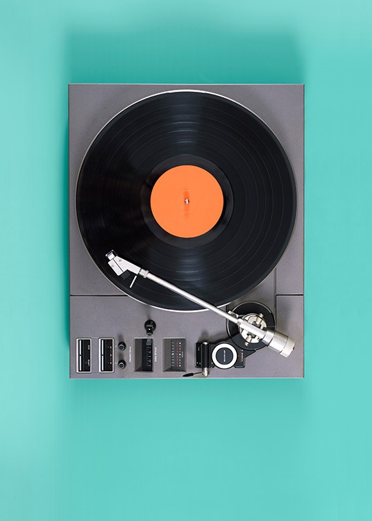 Retro Record Player Poster / Photography at Desenio AB (11818)