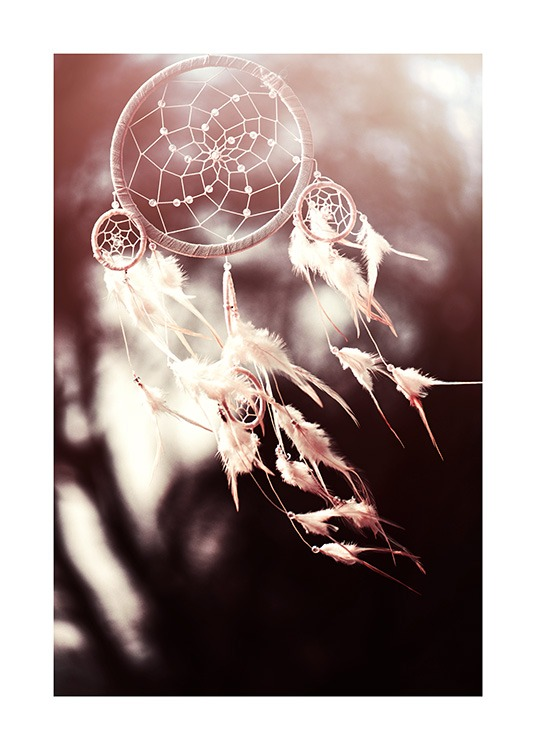 White Dreamcatcher Poster / Photography at Desenio AB (11887)