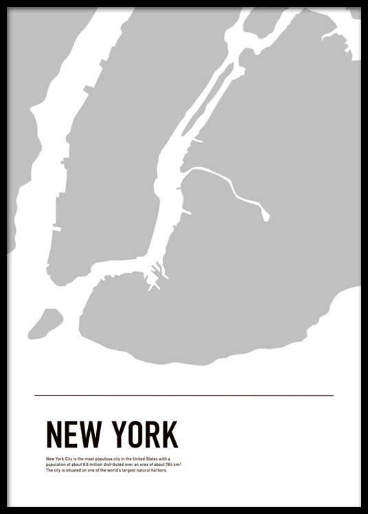 Map Of New York Poster.Graphic Map New York Poster