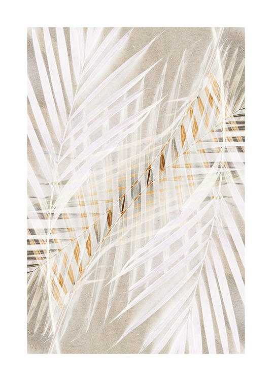 White Palm Leaves Poster / Photography at Desenio AB (12059)