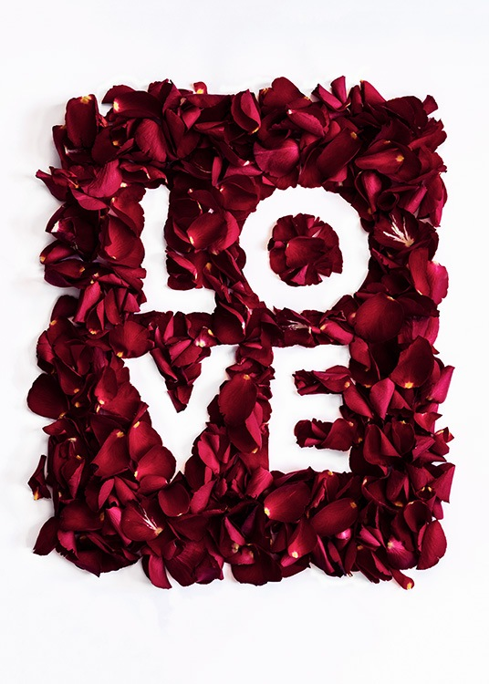 Rose Love Poster / Text posters at Desenio AB (12146)