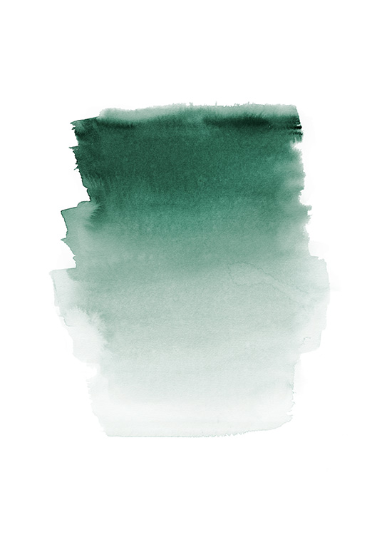 Green Watercolor Poster / Abstract wall art at Desenio AB (12410)