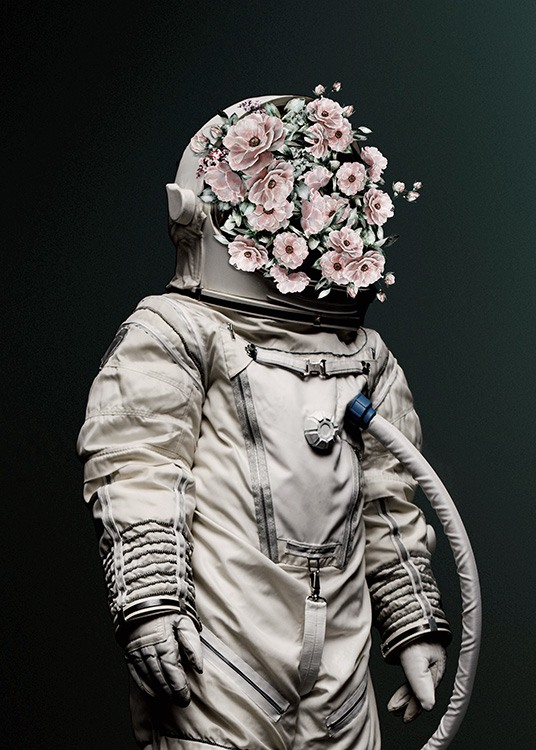 Flower Astronaut Poster / Photography at Desenio AB (12495)