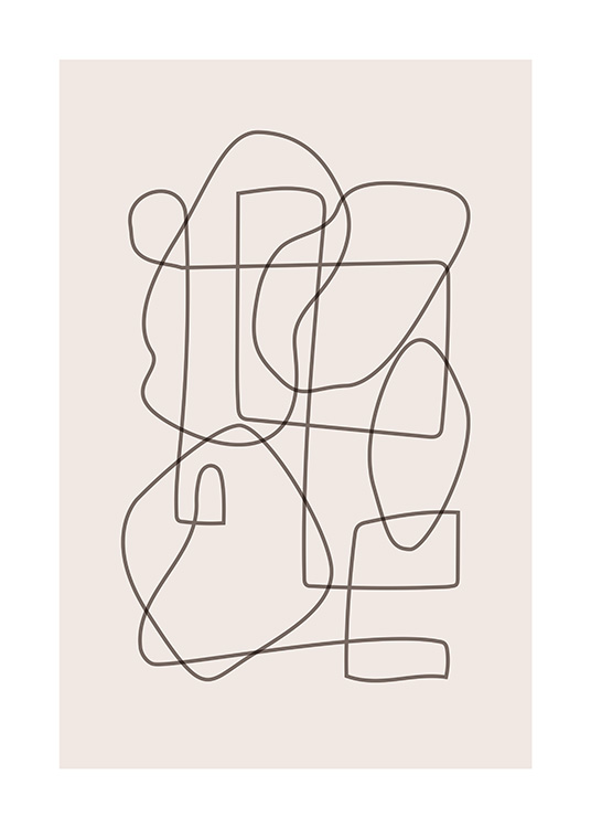 Abstract Lines Poster / Art prints at Desenio AB (12520)