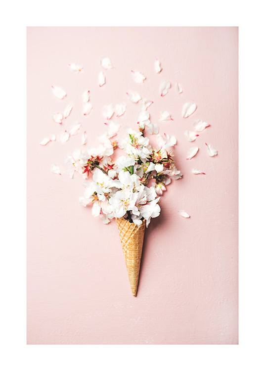 Flower Cone Pink Poster / Photography at Desenio AB (12531)