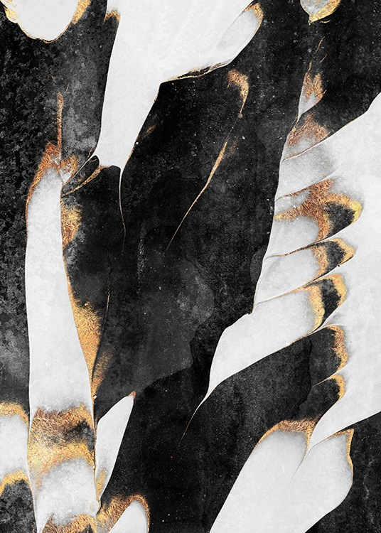 Black And Gold Veins No1 Poster / Art prints at Desenio AB (12549)