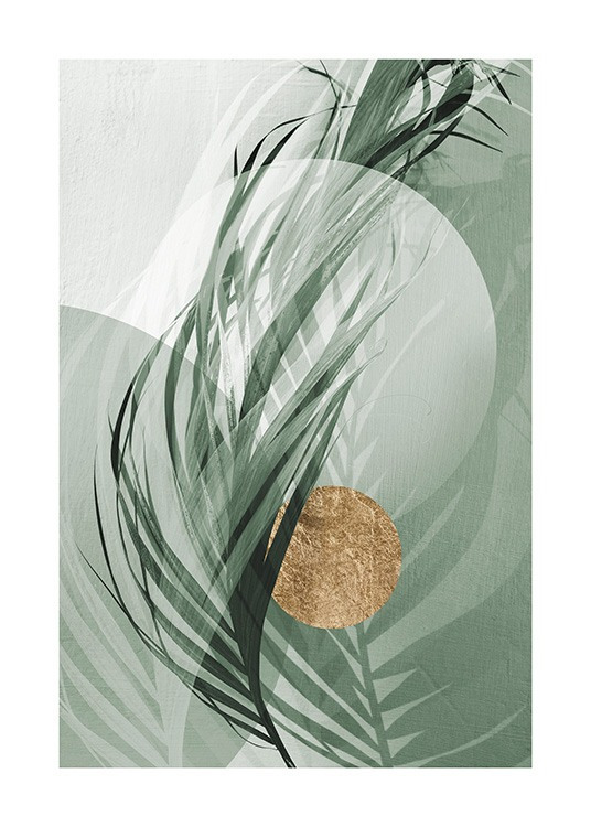 Graphic Palm Leaf No1 Poster / Photography at Desenio AB (12587)
