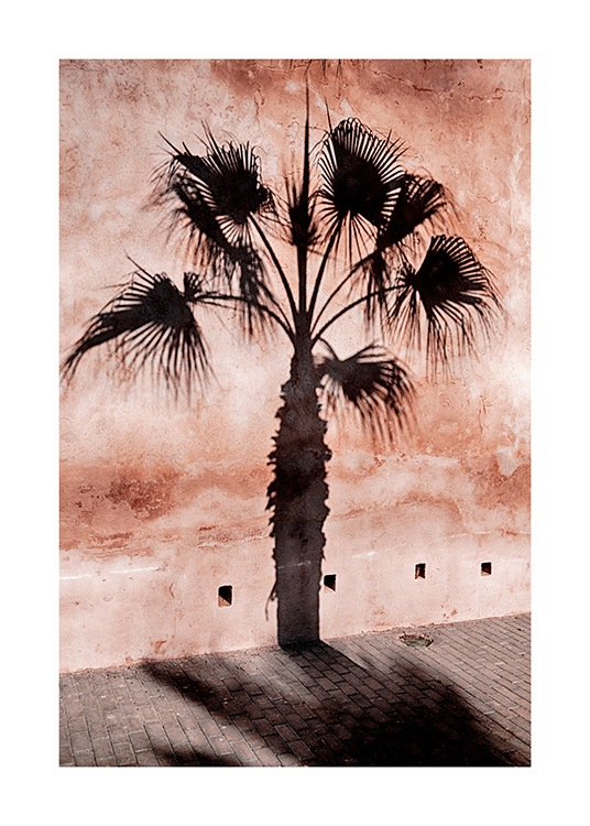 Palm Tree Shadow Poster / Nature at Desenio AB (12600)