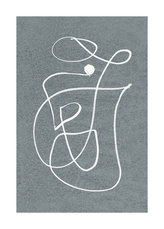 Fine Curvy Lines Poster / Art prints at Desenio AB (12612)