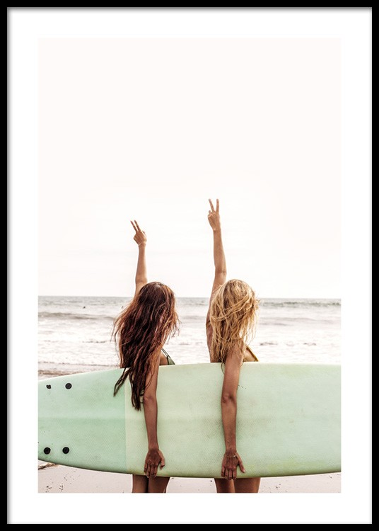 SURFING POSTER SURF BABES