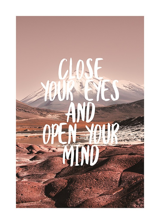Open Your Mind Poster / Text posters at Desenio AB (12791)