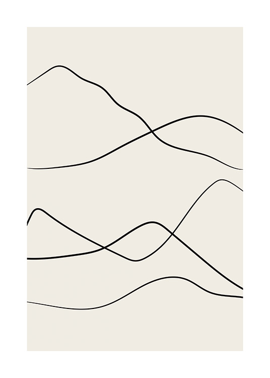 Desert Lines No2 Poster / Art prints at Desenio AB (12803)