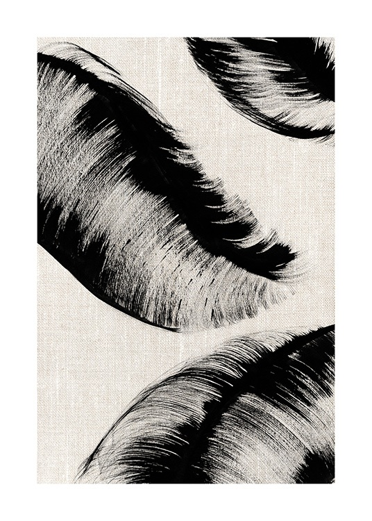 Ink Leaves No2 Poster / Art prints at Desenio AB (12809)