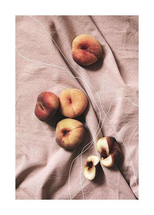 Peaches on Linen Poster / Kitchen at Desenio AB (12815)
