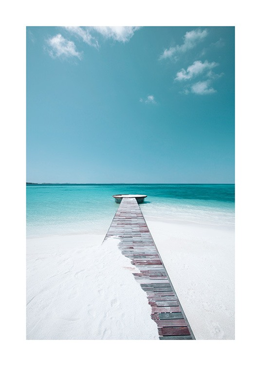 White Sand Beach Poster / Nature at Desenio AB (12835)
