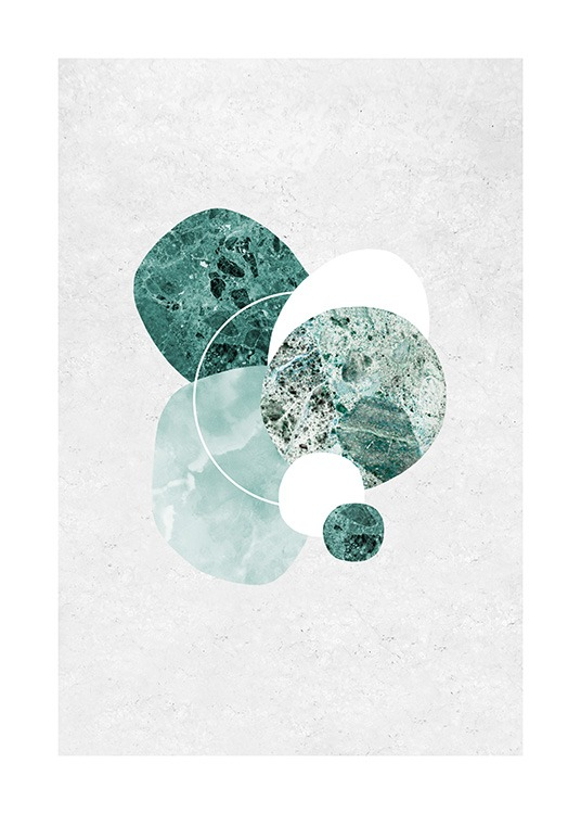 Mint Marble Poster / Art prints at Desenio AB (12846)
