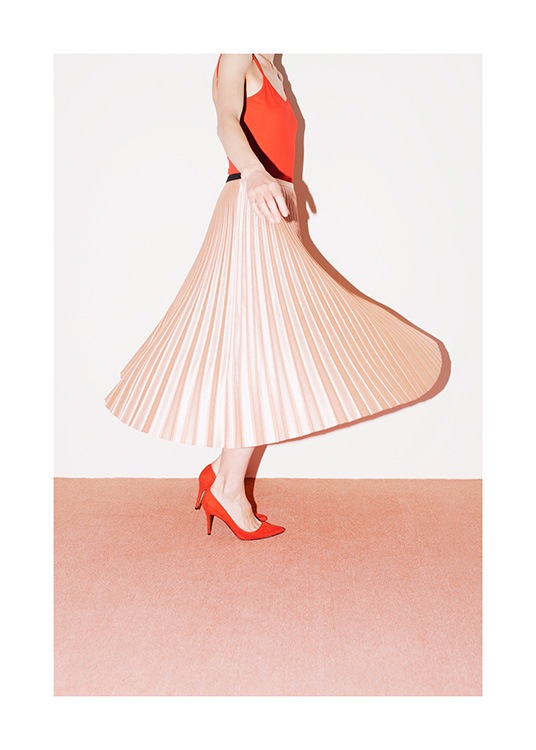 Peach Skirt Poster / Photography at Desenio AB (12856)