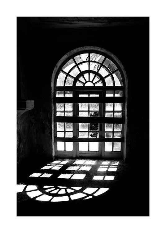 Arched Window Poster / Black & white at Desenio AB (12901)