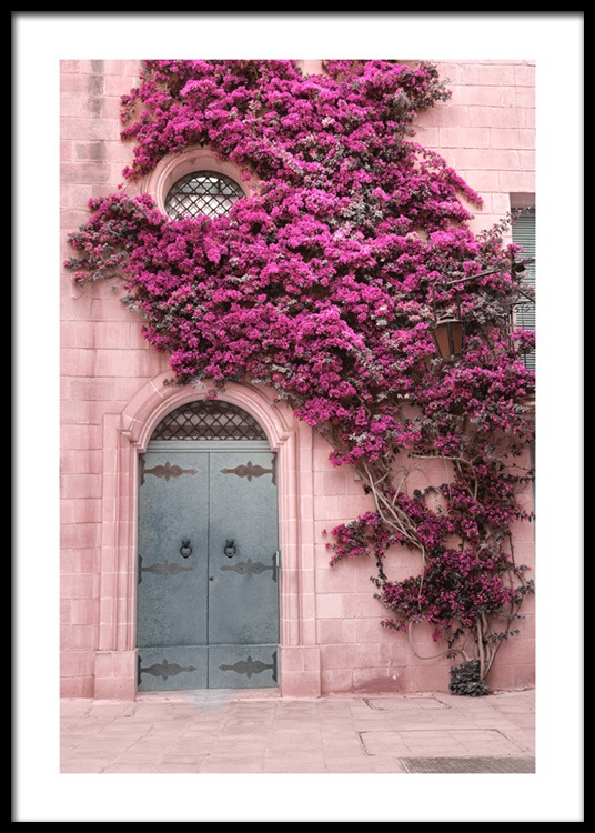 Pink Flower Wall Poster
