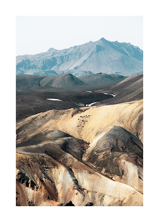 - Photograph of landscape in Iceland with mountain structure