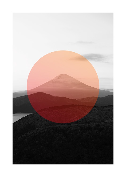 Mt. Fuji Circle Poster / Graphical at Desenio AB (13637)