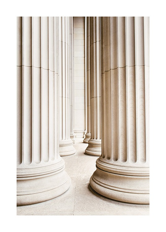 Marble Columns Poster / Architecture  at Desenio AB (13647)