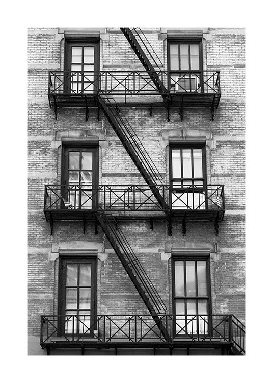 NY Fire Escape Poster / World Cities at Desenio AB (13655)