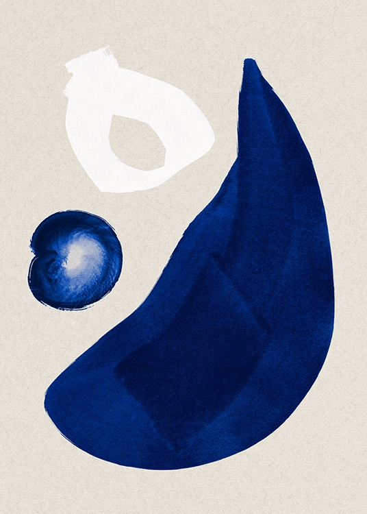 Cobalt Shapes No1 Poster / Abstract wall art at Desenio AB (13661)