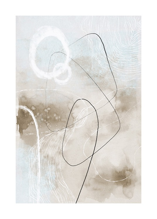 Soft Abstract Lines No2 Poster / Abstract wall art at Desenio AB (13676)