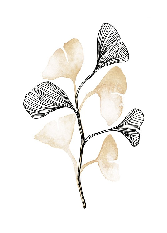 Ginkgo No1 Poster / Green plants at Desenio AB (13757)