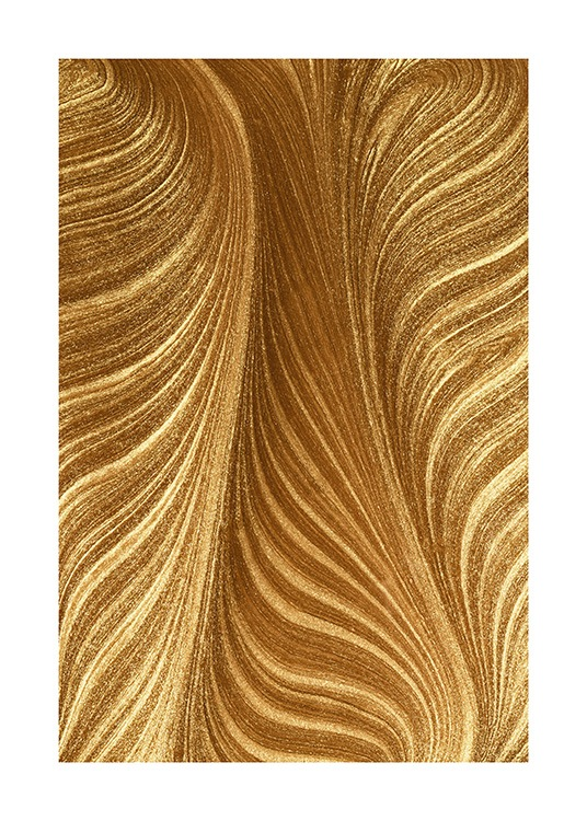 Golden Paint Poster / Paintings at Desenio AB (13764)