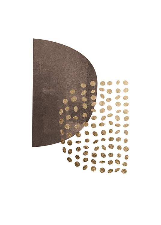 Golden Dots Poster / Abstract wall art at Desenio AB (13767)