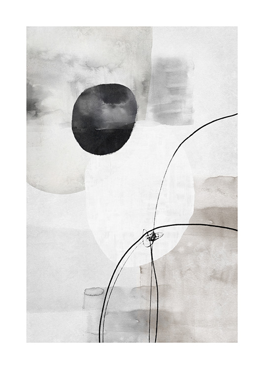 Painted Shapes No2 Poster / Abstract wall art at Desenio AB (13810)