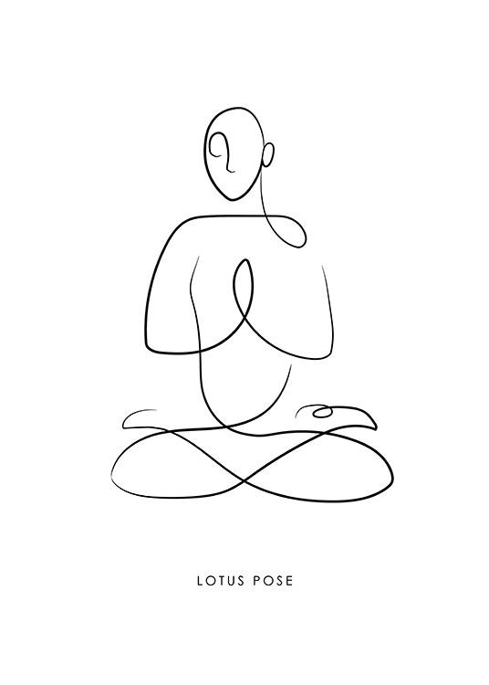 Yoga Pose No4 Poster / Line Art at Desenio AB (13948)