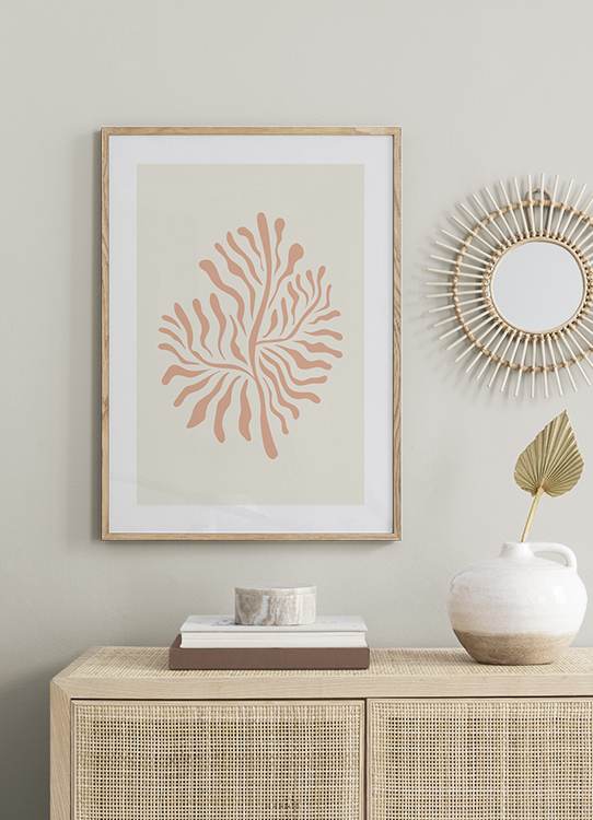 Pastel Coral Poster Pink Coral Desenio Com