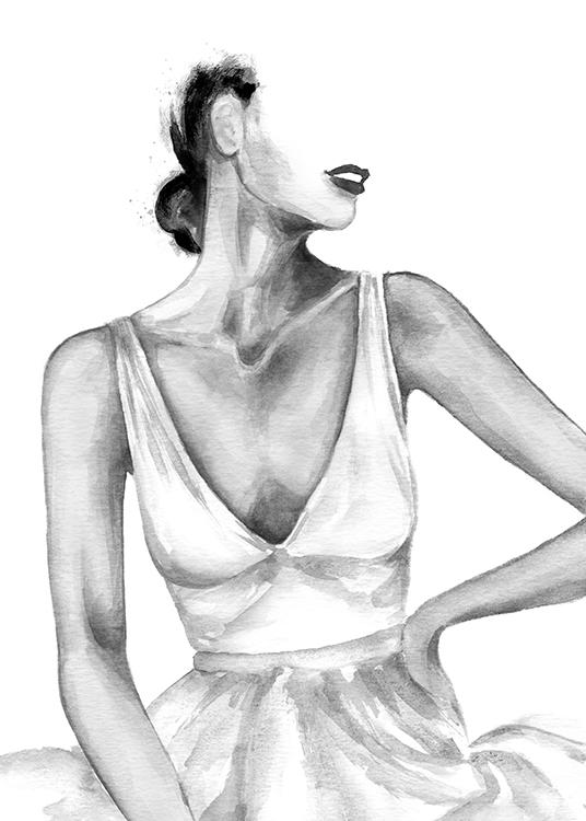SILK DRESS Watercolor