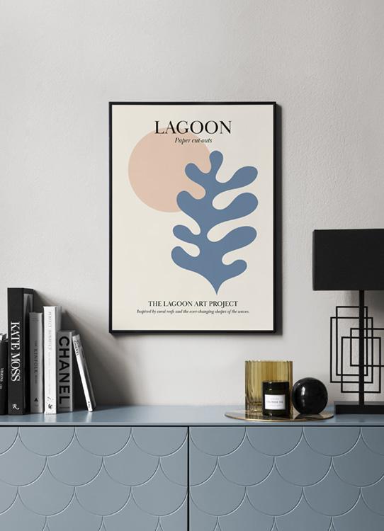 Lagoon No3 Poster Blue Coral Desenio Com