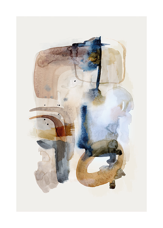 Earthy Watercolor No1 Poster / Abstract wall art at Desenio AB (15963)