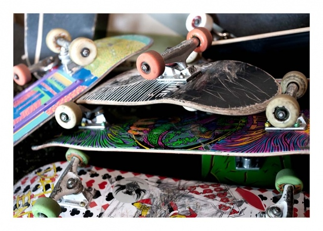 Skateboards Poster / Kids posters at Desenio AB (2063)