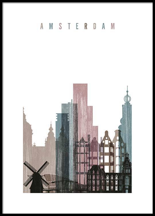 amsterdam skyline poster