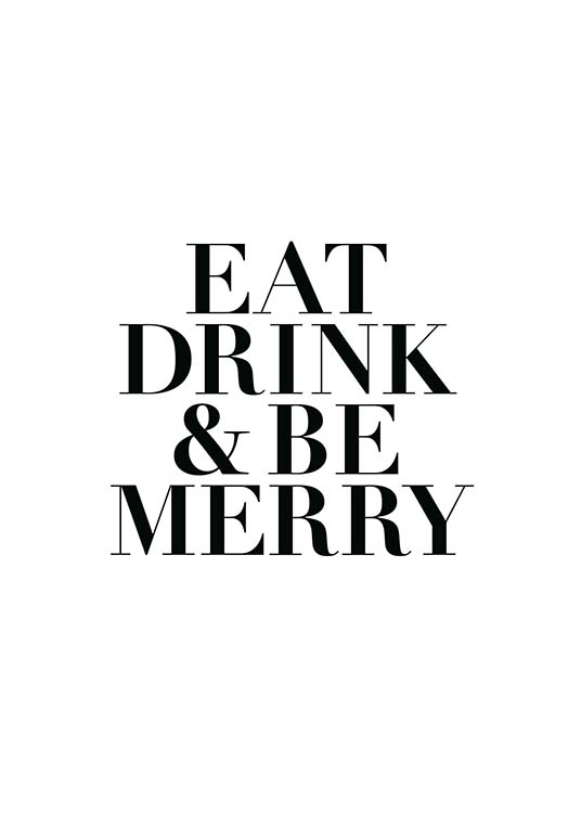 eat drink and be merry poster