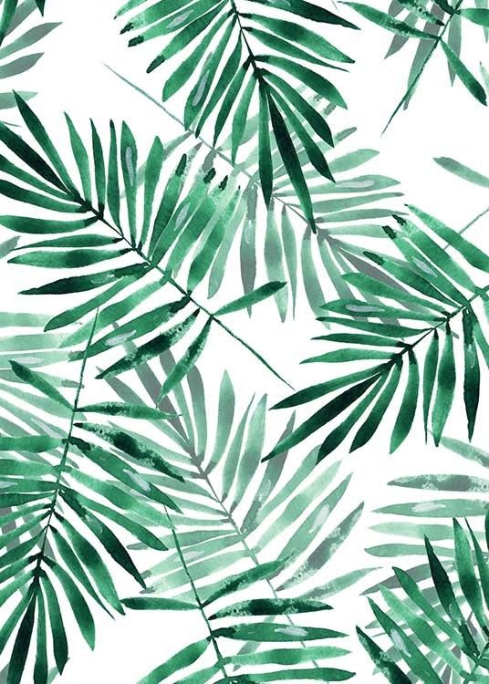 Palm Leaves Pattern Poster / Art prints at Desenio AB (2286)