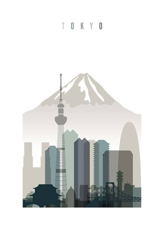 Tokyo Skyline Poster / Maps & cities at Desenio AB (2350)