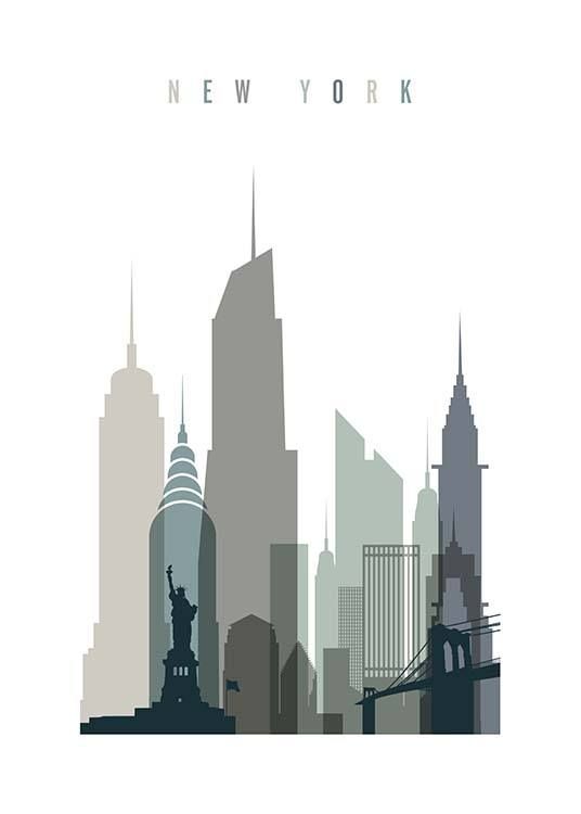 New York Skyline Poster / Maps & cities at Desenio AB (2351)