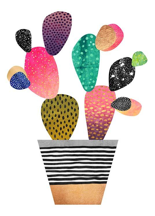 Happy Cactus Poster / Art prints at Desenio AB (2380)