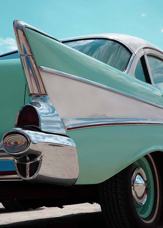 Mint Blue Car Poster / Photography at Desenio AB (2444)