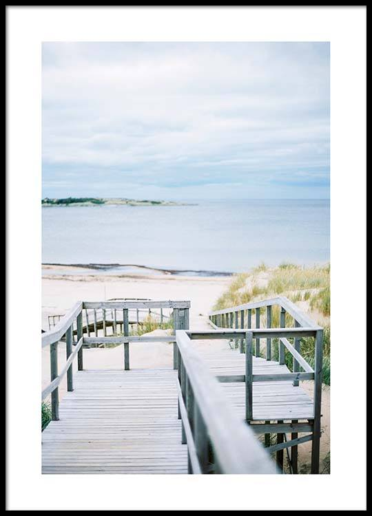 Beach Stairs Poster