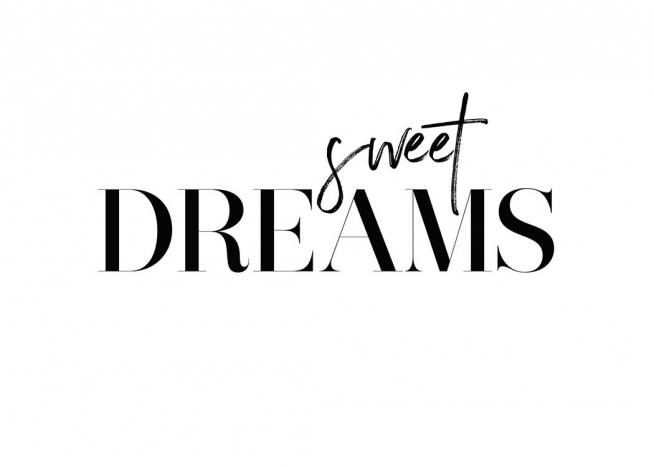 Dreams Poster / Text posters at Desenio AB (2472)