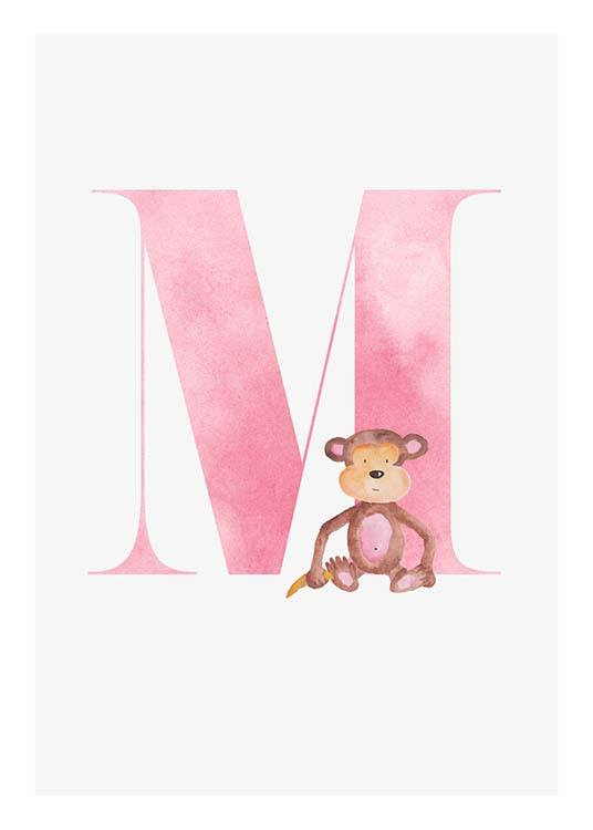 Alphabet M Poster / Kids posters at Desenio AB (2505)