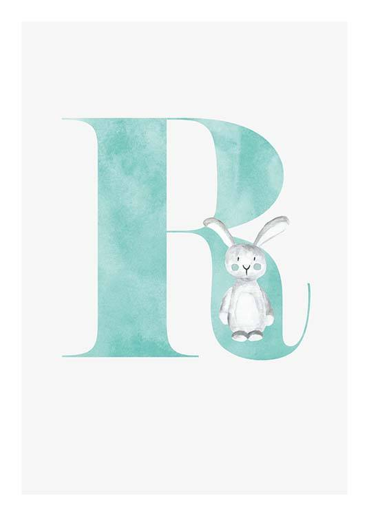 Alphabet R Poster / Kids posters at Desenio AB (2510)